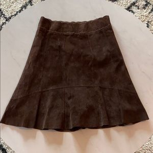 Cabi knee length suede skirt size 6